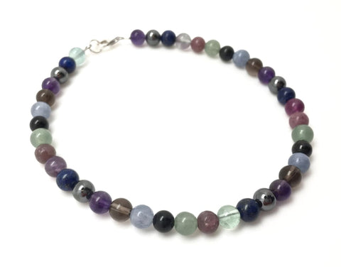 ADHD crystal bracelet (calming, mood disorder, focus, emotional balance, & empathy)