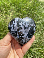 "Indigo Gabbro Heart (2"" - 3"")  - Merlinite heart - Mystic merlinite heart - Indigo Gabbro stone - healing crystals and stones - merlinite"