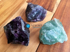 "Raw Rainbow Fluorite Crystal (2"" - 3"") - New Moon Beginnings - 2"