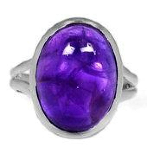 Amethyst Ring Size 7 Ring Sterling silver ring - Amethyst Jewelry - Amethyst crystal ring - healing crystals - amethyst stone ring 1852