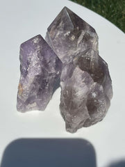 "Amethyst and Cacoxenite Points (2"" to 4"") - Top Polished Points - MINOR IMPERFECTIONS - DISCOUNTED - Healing Crystals & Stones"