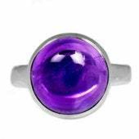 Amethyst Ring Size 10 Ring Sterling silver ring - Amethyst Jewelry - Amethyst crystal ring - healing crystals - amethyst stone ring 1860