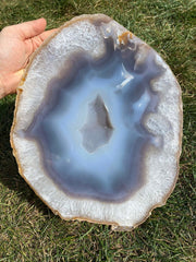 Agate Slice Large - quartz crystal - Agate Slab - large agate geode - rocks and minerals - agate stone - healing crystals and stones 193