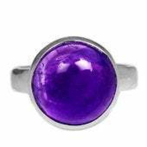 Amethyst Ring Size 8 Ring Sterling silver ring - Amethyst Jewelry - Amethyst crystal ring - healing crystals - amethyst stone ring 1867
