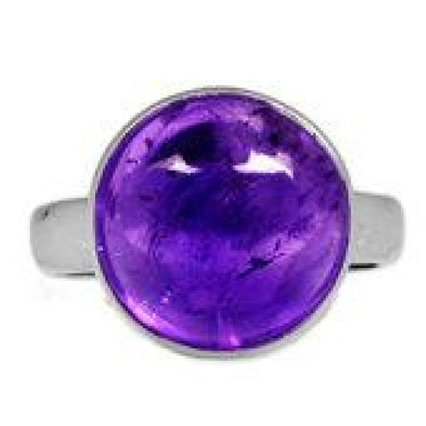 Amethyst Ring Size 7.5 Ring Sterling silver ring - Amethyst Jewelry - Amethyst crystal ring - healing crystals - amethyst stone ring 1841