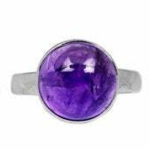 Amethyst Ring Size 10 Ring Sterling silver ring - Amethyst Jewelry - Amethyst crystal ring - healing crystals - amethyst stone ring 1812