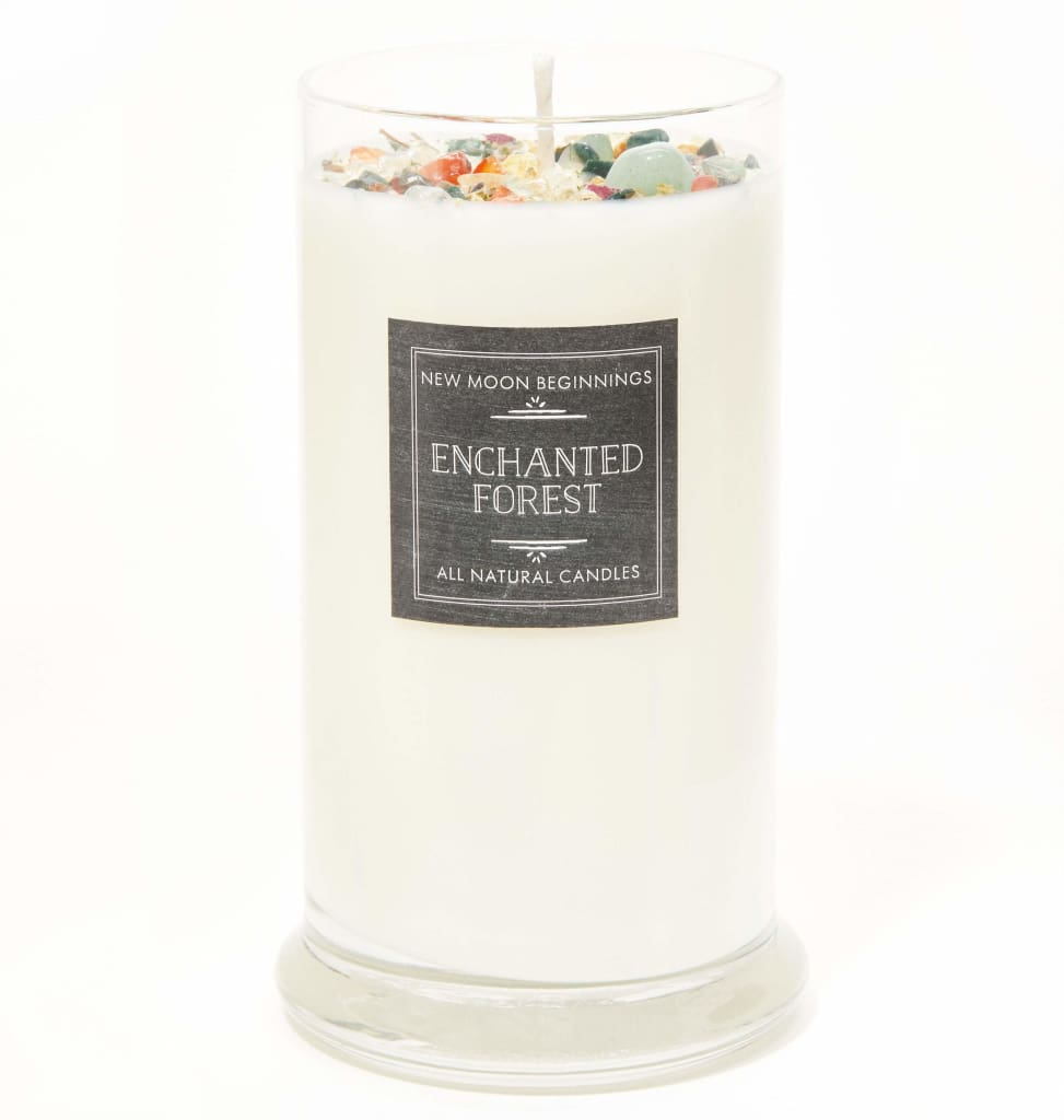 Enchanted Forest Candles Whimsical Candle Handmade with Crystals /& Herbs Romance and Love Candle Soy Aromatherapy Candle