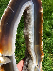 Agate Slice Large - Quartz Crystal Slab Large Agate Geode Rocks And Minerals Stone Healing Crystals