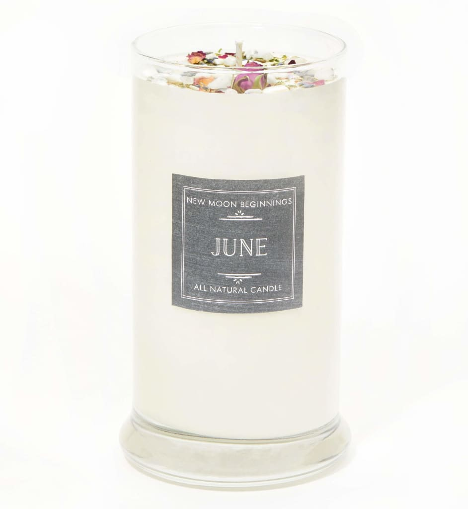 June Candle - Handmade Birthstone & Birth Month Candle - Romance, Happiness, Joy - Anniversary Gift - Summer Wedding Candle - Zodiac Candle