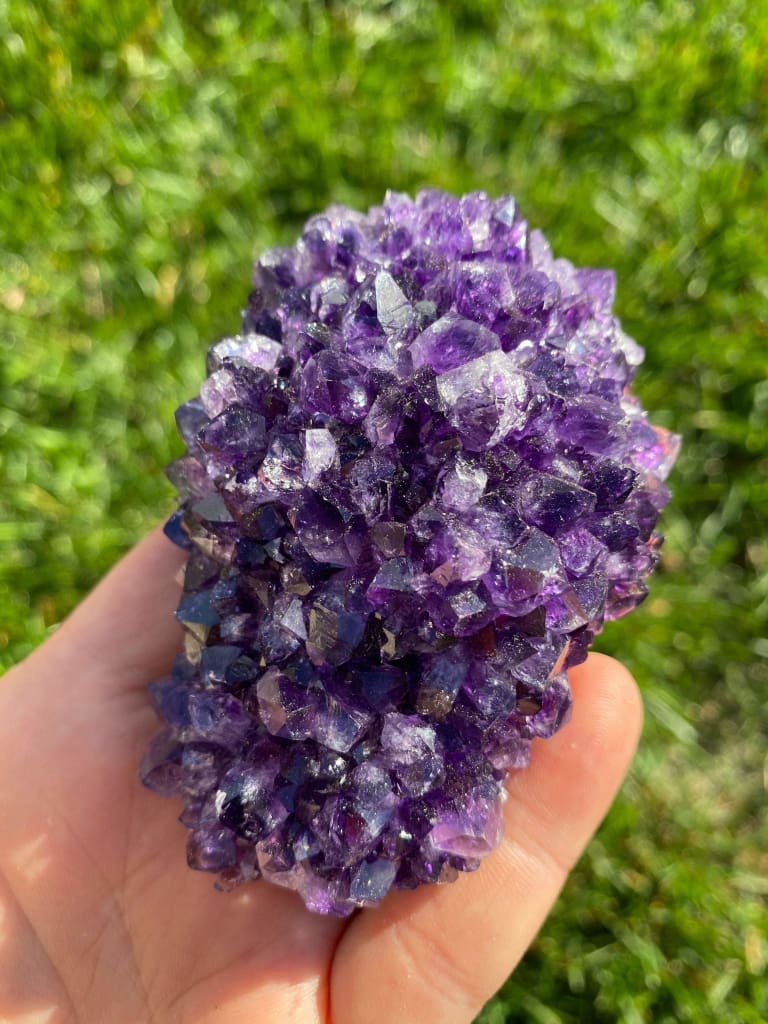 Raw Amethyst Crystal Cluster - Amethyst Cluster - Amethyst Geode - Raw Amethyst Point - Healing crystals and stones - chakra crystals 175