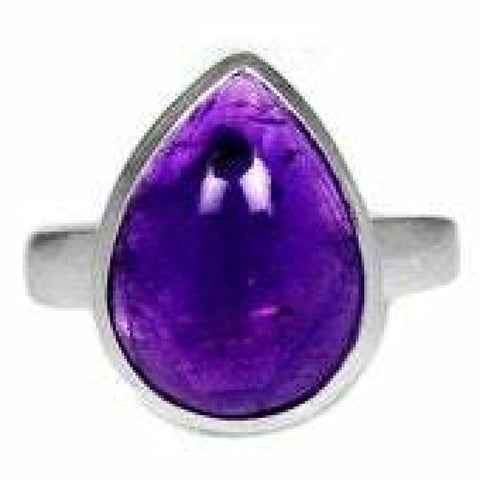Amethyst Ring Size 9 Ring Sterling silver ring - Amethyst Jewelry - Amethyst crystal ring - healing crystals - amethyst stone ring 1866