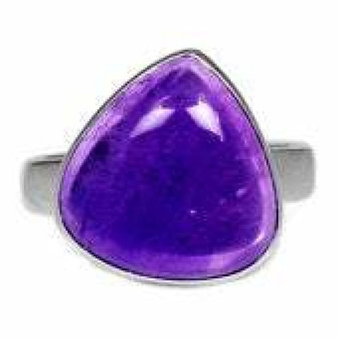 Amethyst Ring Size 8 Ring Sterling silver ring - Amethyst Jewelry - Amethyst crystal ring - healing crystals - amethyst stone ring 1865