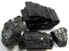 Raw Black Tourmaline Cluster - New Moon Beginnings - 2