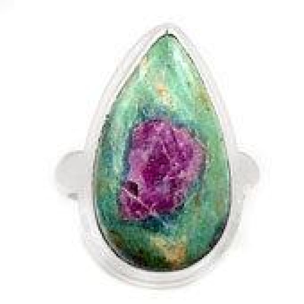 Ruby in Fuchsite ring size 5 - ruby fuchsite ring - ruby in fuchsite jewelry - ruby fuchsite jewelry - size 5 ring Sterling Silver ring 1059