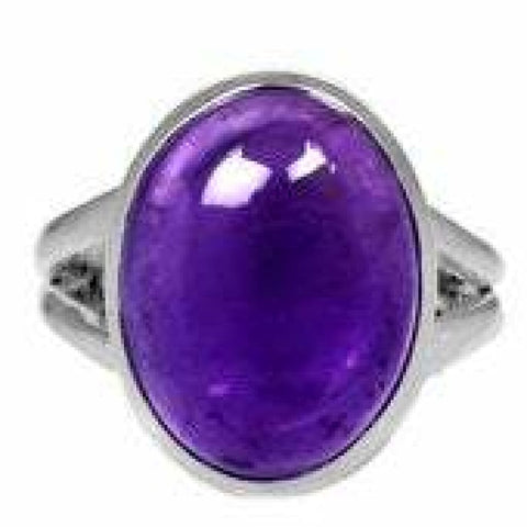 Amethyst Ring Size 6 Ring Sterling silver ring - Amethyst Jewelry - Amethyst crystal ring - healing crystals - amethyst stone ring 1848