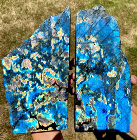 Labradorite Bookend - Labradorite stone bookend - healing crystals and stones - Labradorite slab - rough labradorite - raw labradorite 694