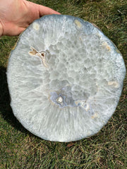 Agate Slice Large - quartz crystal - Agate Slab - large agate geode - rocks and minerals - agate stone - healing crystals and stones 194