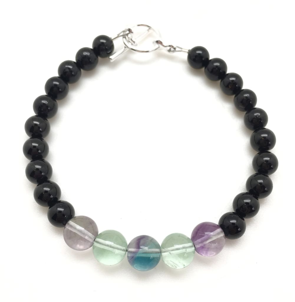Fluorite and Black Agate