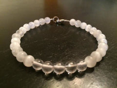 Selenite & Crystal Quartz Bracelet - New Moon Beginnings - 2