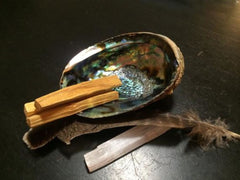 Smudge kit with Palo Santo Wood - New Moon Beginnings - 3