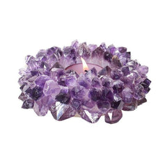 Amethyst Tealight Candle Holder - New Moon Beginnings - 1