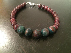 Bloodstone and Garnet Bracelet - New Moon Beginnings - 2