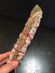 "Rosemary White Sage Smudge Bundles (8"") - New Moon Beginnings - 2"