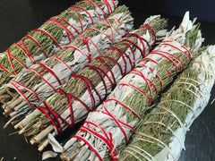 "Rosemary White Sage Smudge Bundles (8"") - New Moon Beginnings - 1"