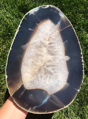 Agate slab - agate crystal - raw quartz crystal - agate stone - agate geode - display crystal - healing crystals and stones 58