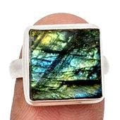 Raw Labradorite Ring - rough labradorite ring - labradorite ring size 6.5 - size 6.5 ring - labradorite jewelry sterling silver 225