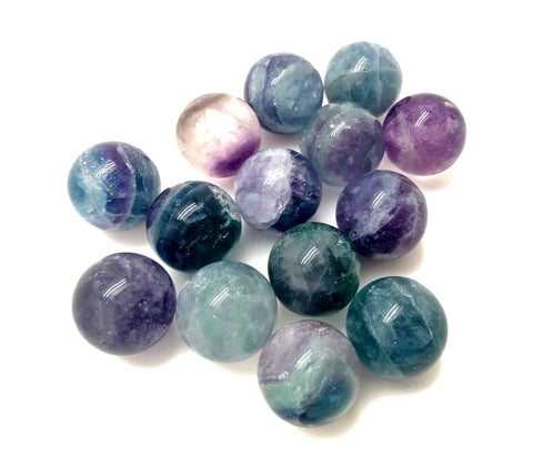 Rainbow Fluorite Crystal Sphere - Rainbow Fluorite sphere - tumbled stones - healing crystals and stones - chakra crystals - fluorite stone