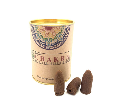 Chakra Backflow Incense Cones - chakra incense burner cones - backflow incense burner cones - smudge incense - back flow incense cones