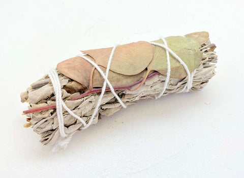 White Sage Eucalyptus Smudge Stick (~4