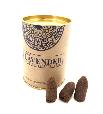 Lavender Backflow Incense Cones - Lavender incense cones - backflow incense burner cones - smudge incense - back flow incense cones