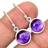 Amethyst Earrings Sterling silver earrings  - Amethyst Jewelry - Amethyst crystal Earrings - healing crystals - amethyst crystal 790