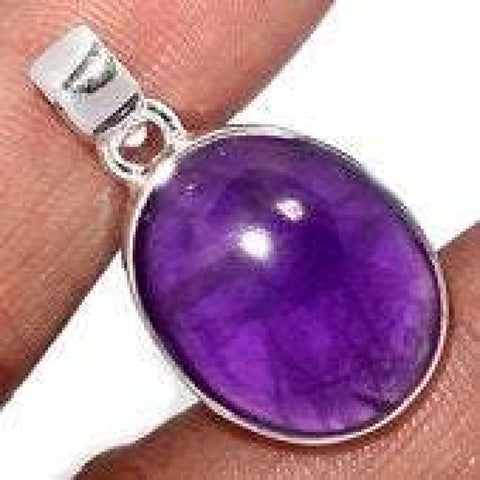 Amethyst Pendant - amethyst jewelry - healing crystal necklace - amethyst necklace - crown chakra - sterling silver pendant - Amethyst 1641