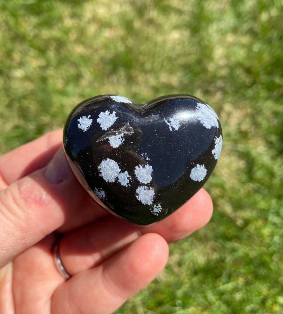 Snow Flake Obsidian Natural Gemstone Size 10 mm Faceted Cut Heart Shape Gemstone