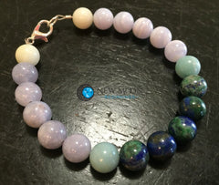 Water Element Bracelet (Amazonite, Aquamarine, Blue Lace Agate, and Chrysocolla) - New Moon Beginnings - 1