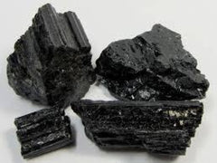 Raw Black Tourmaline Cluster - New Moon Beginnings - 1