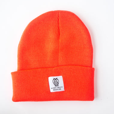 Cuffed Knit Beanie - Blaze Orange