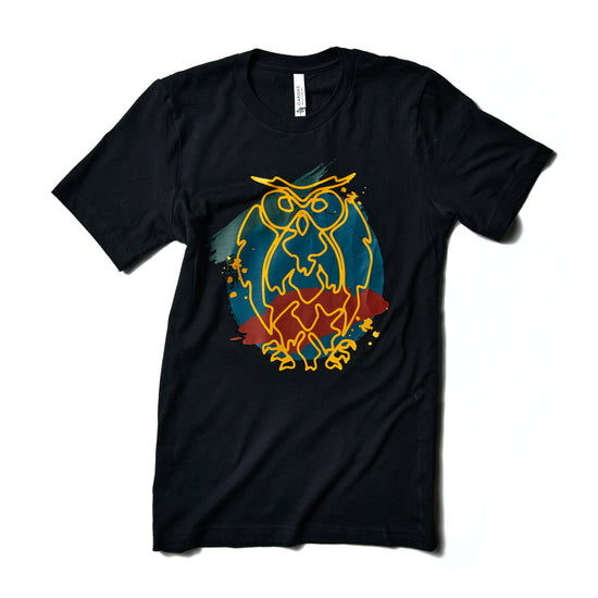 Painted Owl Black T-Shirt - Limited Release