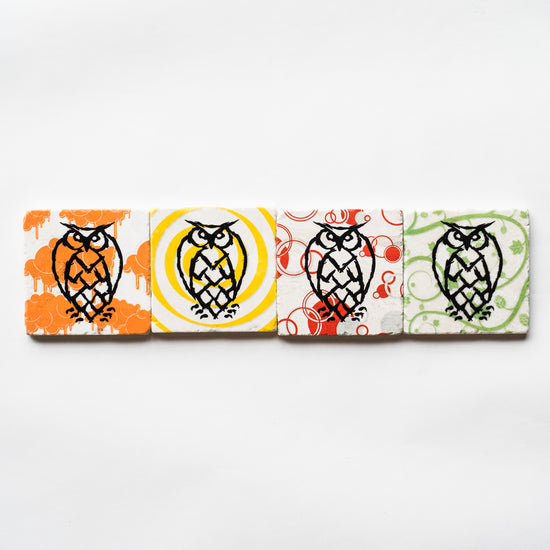 Night Shift Hoppy Marble Coaster Set of 4