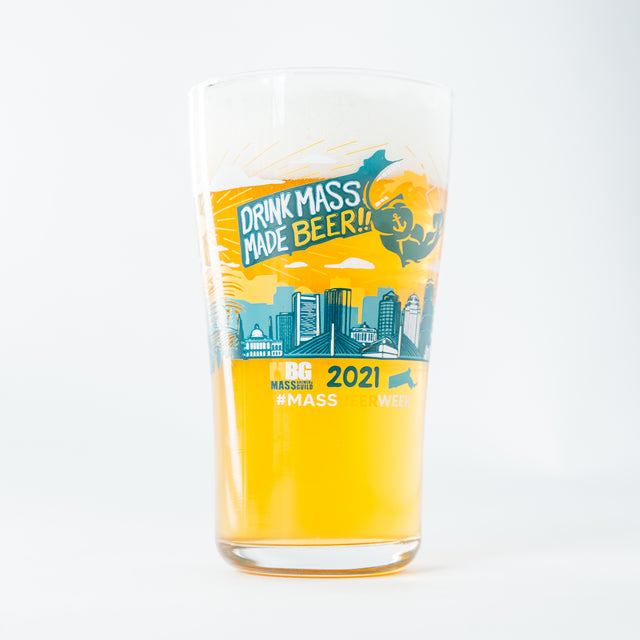 MA Beer Week Limited Edition 16oz Glass - 2021