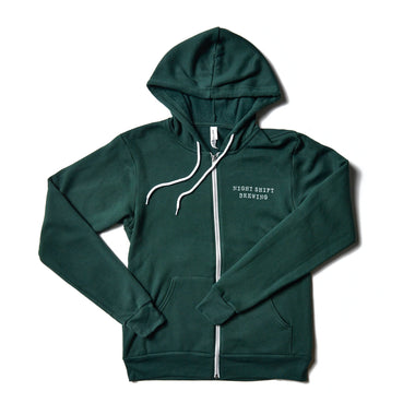Forest Green Zip-Up Hoodie