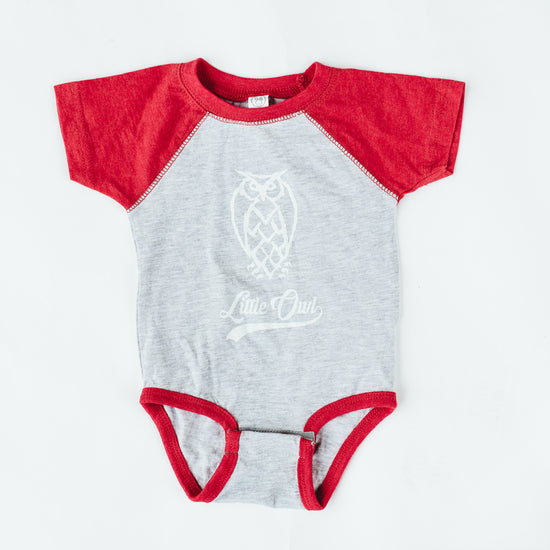 Baby Onesie - Baseball - Red