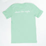 Unisex Logo T-Shirt - Heather Mint - FINAL SALE