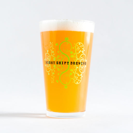 16oz Santilli Floral Hop Pint Glass