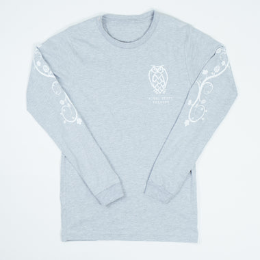 Owl Hop Vine Long Sleeve T-shirt - Gray