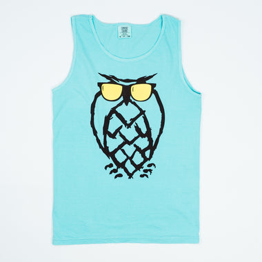 Sunnies Owl Tank-Top - Reef Blue