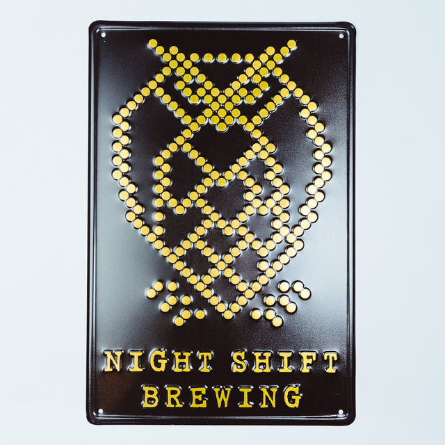 Night Shift Brewing Tin Tacker - Black & Gold